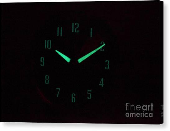Half Life Canvas Print - Radium Dial On Clock by Ted Kinsman