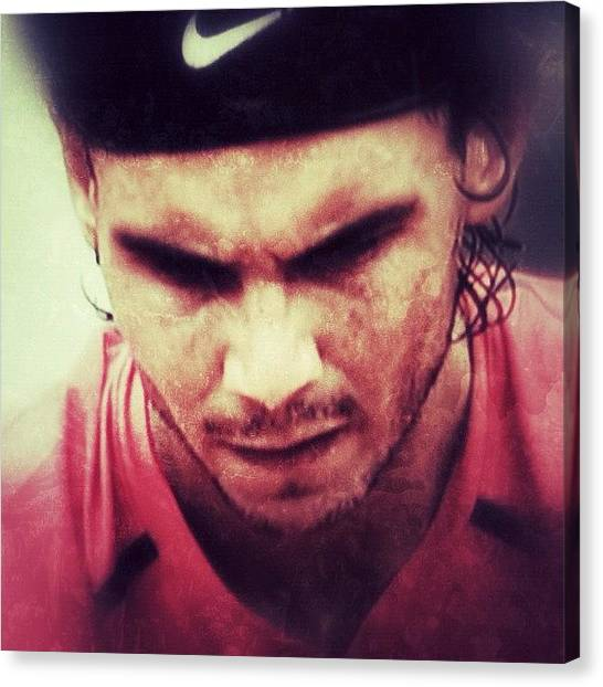 Celebrities Canvas Print - Rafa Nadal by Manuel M Almeida