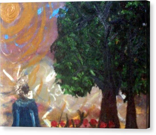 Rage In Heaven Canvas Print by Violette Meier