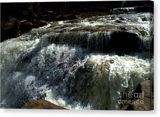 Raging Water Canvas Print by Melissa Nickle