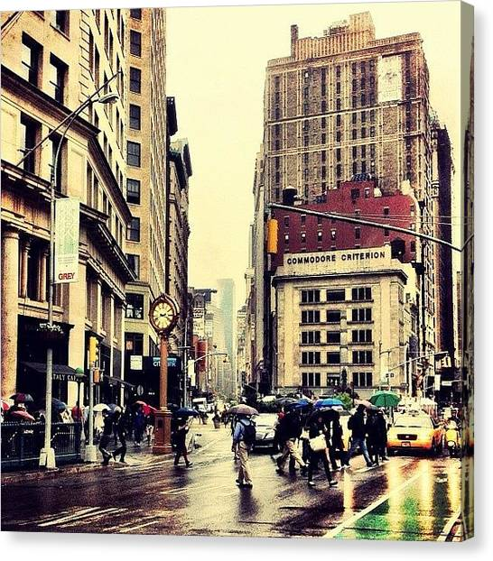 Rain Canvas Print - Rain - Flatiron District - New York City by Vivienne Gucwa