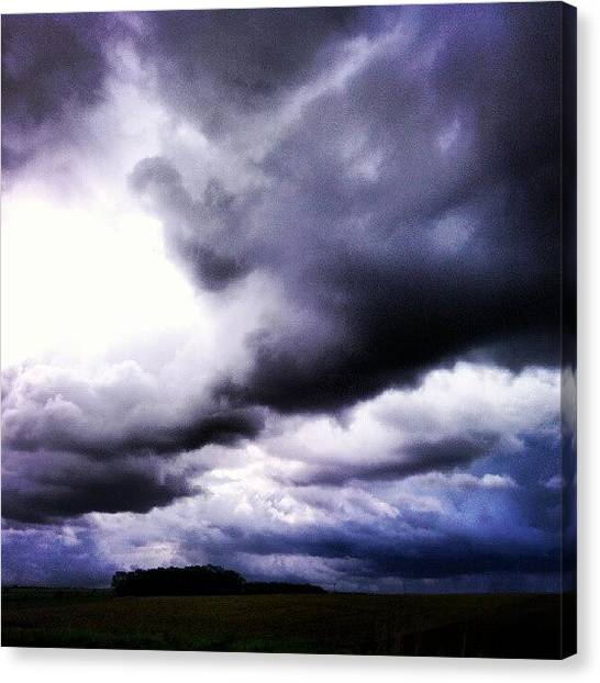 Rainclouds Canvas Print - Rain Clouds #rainclouds #clouds by Pete Carr