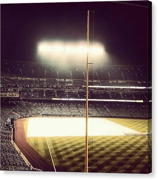 Baseball Teams Canvas Print - Rain Delay #myroxpix  by The Ambs