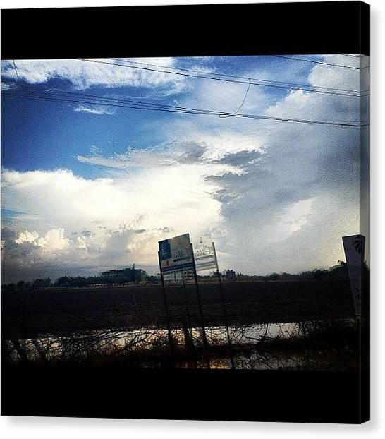Rainclouds Canvas Print - #rain #sky #cloud #beauty #romantic by Dhaval Patel