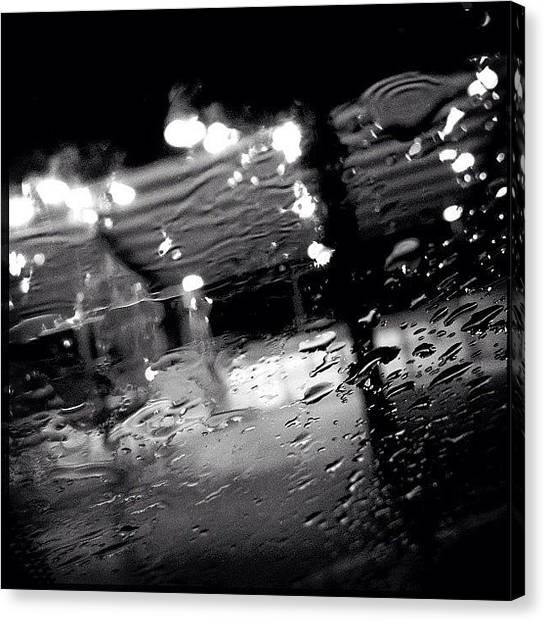 Hockey Canvas Print - #rain #water #monochrome #bw by Meeshi Sense