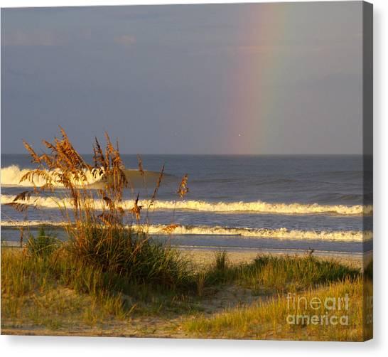 Rainbow - Saint Augustine Beach Canvas Print by Jon Hartman