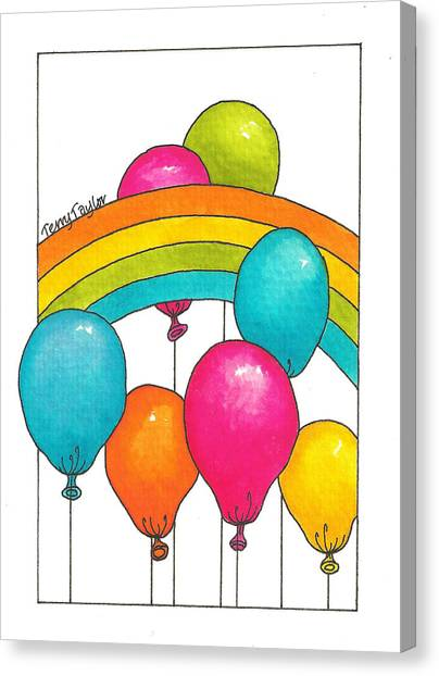 Rainbow Balloons Canvas Print