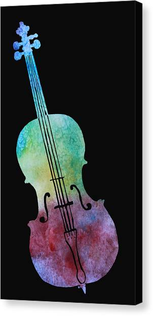 Cellos Canvas Print - Rainbow Cello by Jenny Armitage