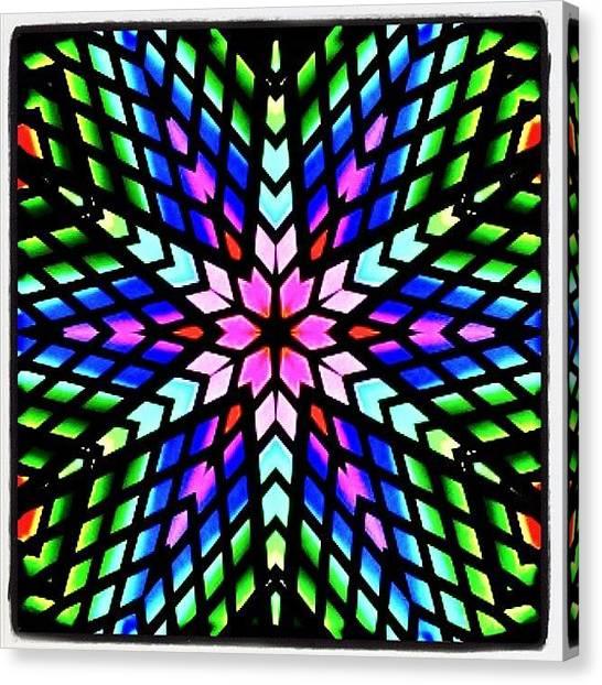 Fractal Canvas Print - #rainbow #hippie #fractal #art On by Pixie Copley