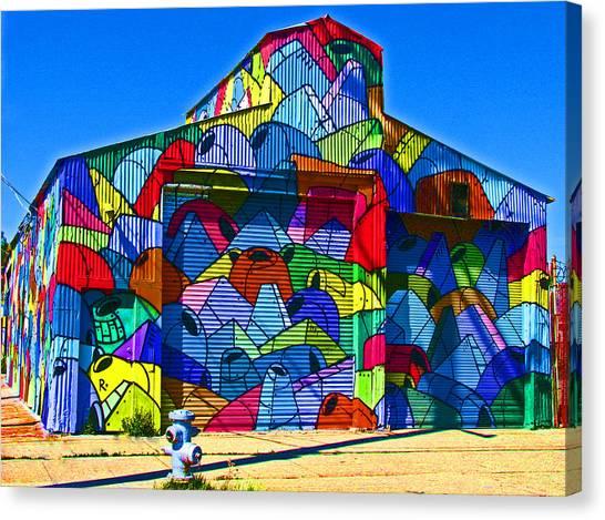 Rainbow Jug Building Canvas Print