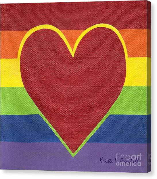Rainbow Love Canvas Print by Kristi L Randall