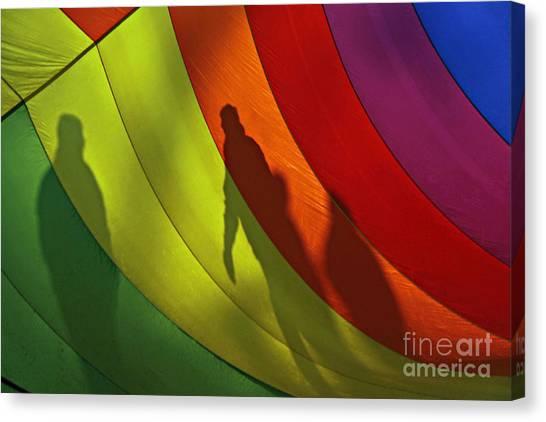 Rainbow Shadows Canvas Print