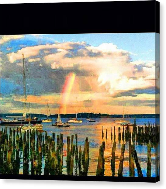 Bikini Canvas Print - #rainbow #tastetherainbow #sea #amazing by Nate Greenberg