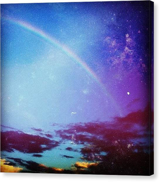 Army Canvas Print - #rainbow #texas #beautiful #fthood by Samantha Huynh