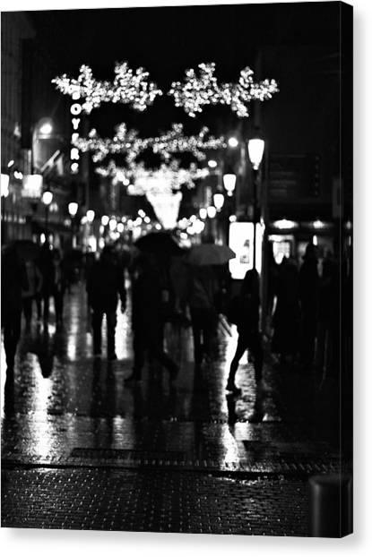 Raining In Dublin Canvas Print by Patrick Horgan