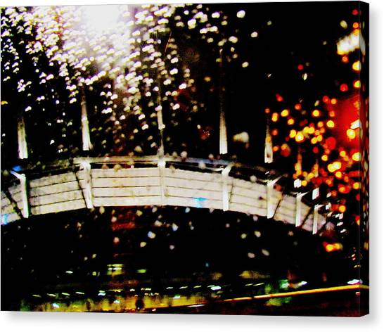 Rainy Bc Place Canvas Print