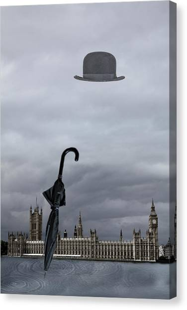 Rainy Day In London  Canvas Print