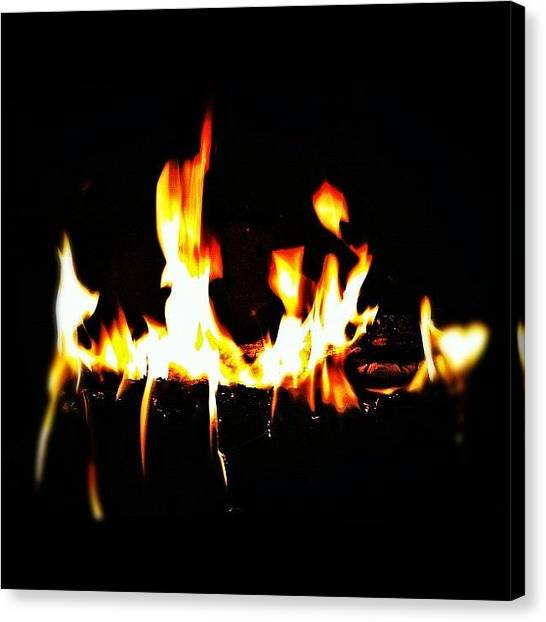 Flames Canvas Print - Rainy Day. #iphone #iphone4 #life #fire by Loghan Call