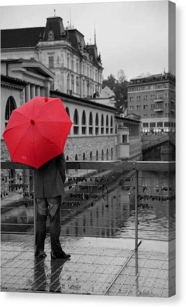 Rainy Days In Ljubljana Canvas Print