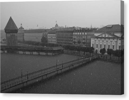 Rainy Days In Lucern Canvas Print by Jim Neumann