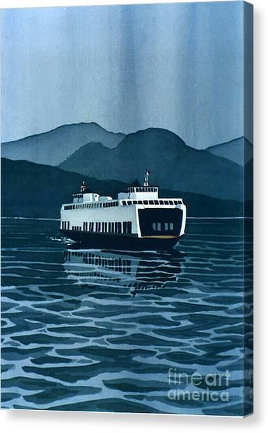 Rainy Ferry Canvas Print
