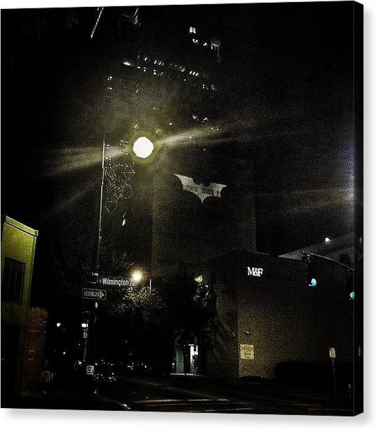 Bat Canvas Print - Raleigh Needs The Batman by Britain Hayhurst