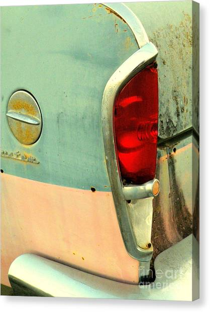 Turn Signals Canvas Print - Rambling Rose by Joe Jake Pratt