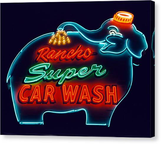 Rancho Car Wash Canvas Print