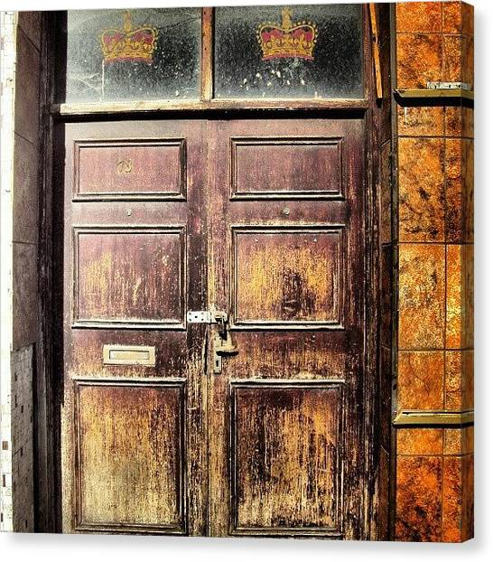 House Canvas Print - Random Door In Liverpool Streets by Abdelrahman Alawwad