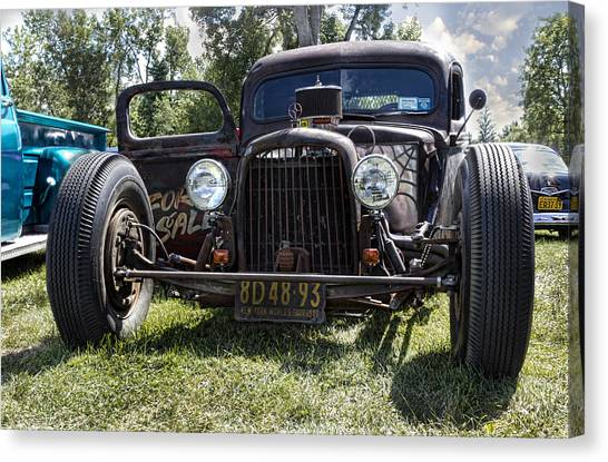 Street Rods Canvas Print - Rat Rod by Peter Chilelli