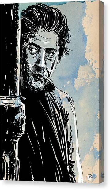 Cowboy Canvas Print - Ratso Rizzo by Giuseppe Cristiano