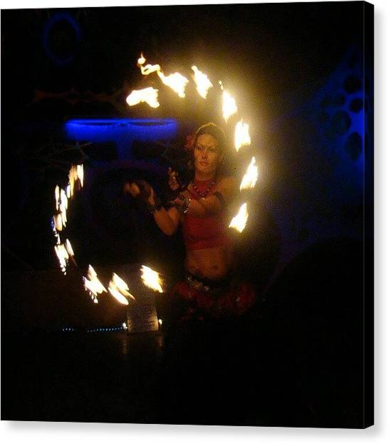 Belly Dance Canvas Print - #rave #russian #party #fire #firework by A Bhadauria