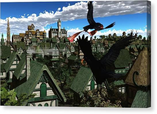 Knotwork Canvas Print - Ravens Flight by Diana Morningstar