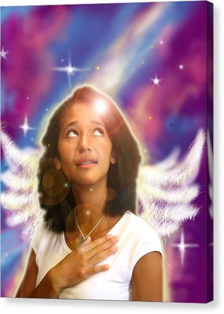 Ravert. Angelic Canvas Print