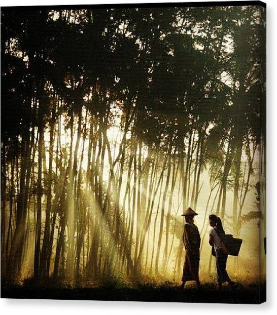 Humans Canvas Print - Ray Of Light #instaiphone #indonesia by Nugroho Wahyu