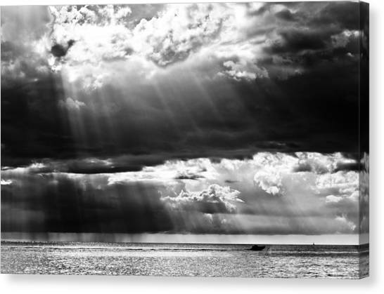 Rays Of Light Canvas Print by Mike Rivera