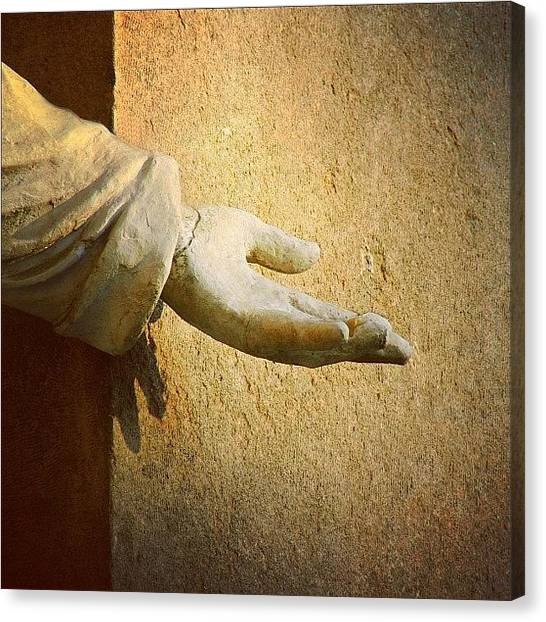 God Canvas Print - Reach Out Touch Faith #hand #faith by A Rey