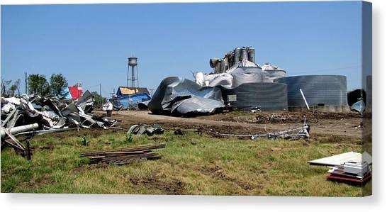 Reading Kansas Tornado Recovery  Canvas Print