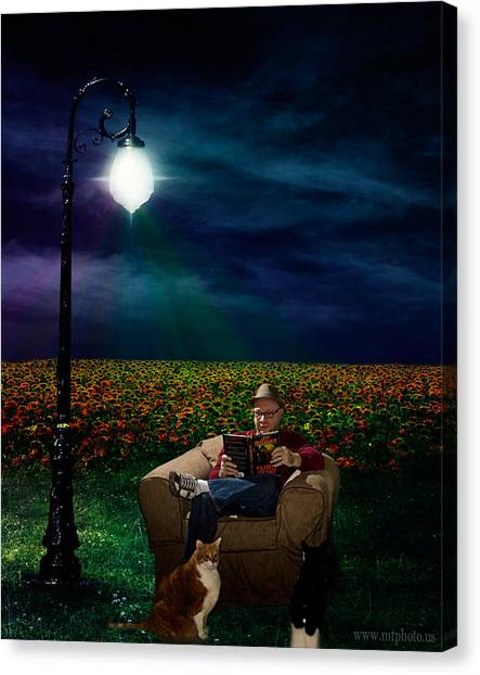 Canvas Print featuring the photograph Reading Light by Michael Taggart