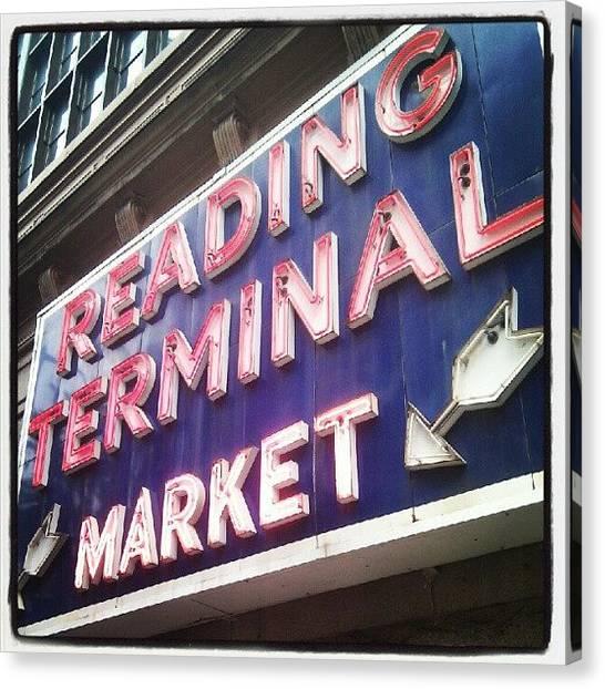 Philadelphia Canvas Print - Reading Terminal Market by Christian Carollo