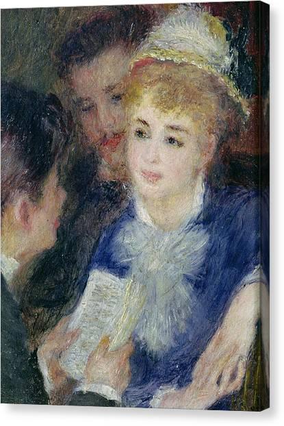Pierre-auguste Renoir Canvas Print - Reading The Role by Pierre Auguste Renoir