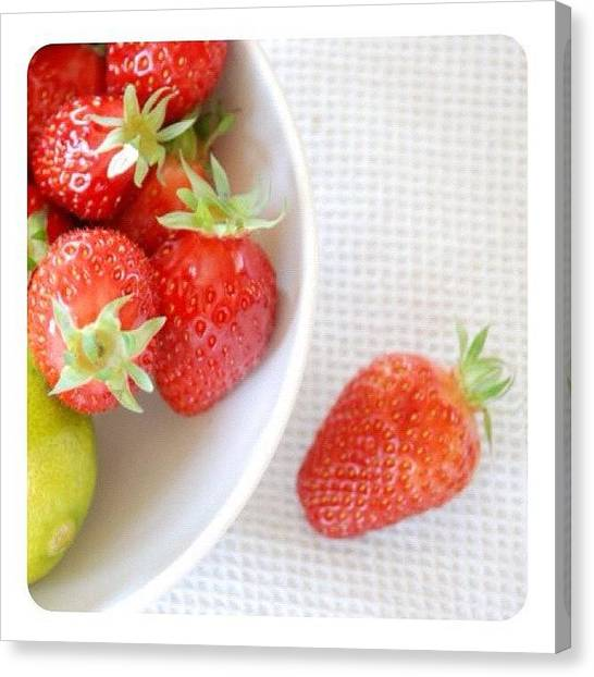 Limes Canvas Print - Ready For A Pastry! #strawberries by Val Lao