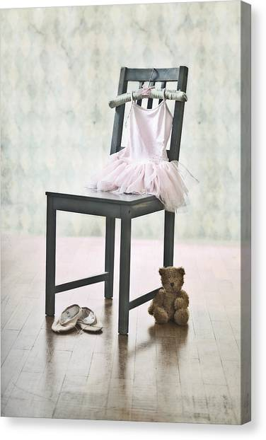 Dance Ballet Roses Canvas Print - Ready For Ballet Lessons by Joana Kruse