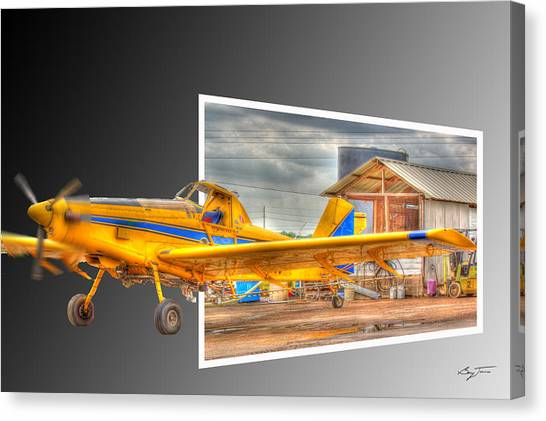Ready To Fly Canvas Print by Barry Jones