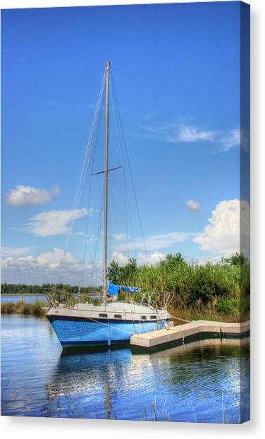 Ready To Sail Canvas Print by Barry Jones