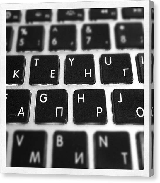 Russia Canvas Print - Ready To Work #apple #keyboard #work by Stanislav Shumeyko