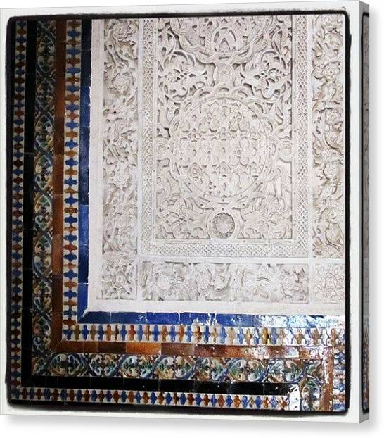 Islamic Art Canvas Print - Real Alcázar, Sevilla II by J R