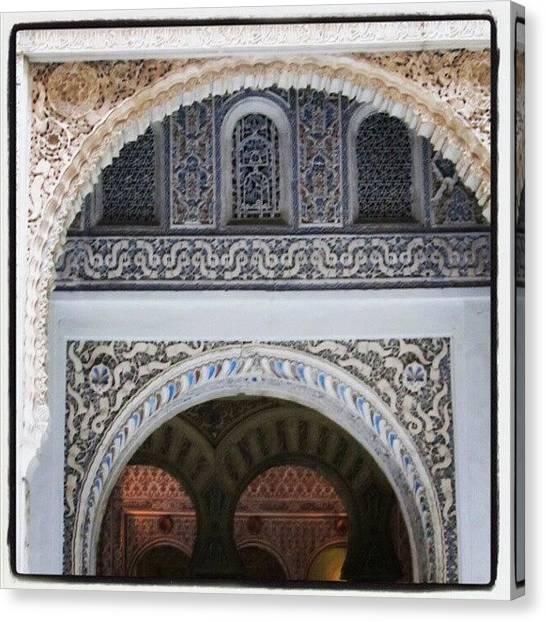 Medieval Art Canvas Print - Real Alcázar, Sevilla by J R