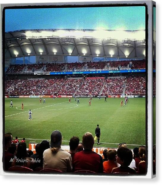 Real Salt Lake Canvas Print - Real by Mily Iriarte