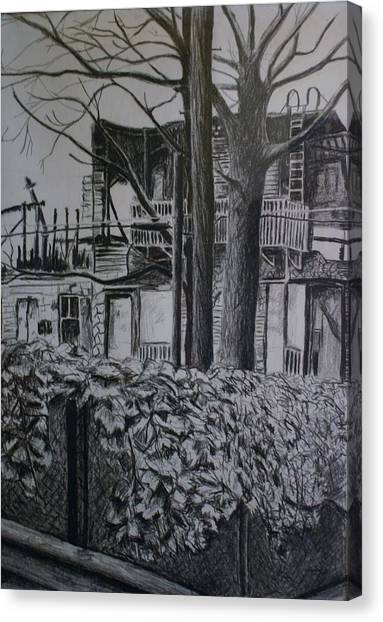 Rear View At Greene Ave. Brooklyn Canvas Print by Victor SOTO